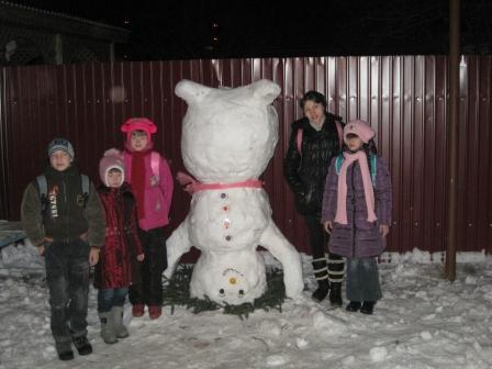 Наш снеговик!