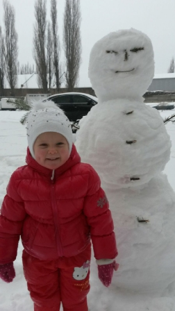 Вот такой снеговичек получился