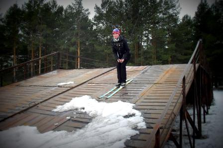 Когда желание кататься на лыжах сильнее имеющихся возможностей. =)